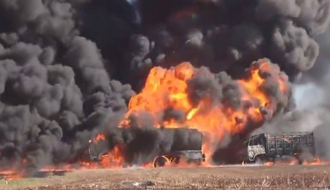 Syrian Army Units Destroy ISIS Oil Tankers in Sweida Province