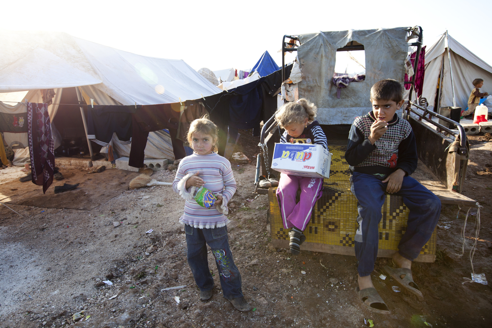 Syrian camp for displaced people