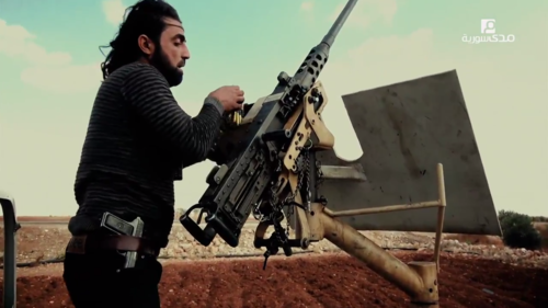 Free_Syrian_Army_M2_Browning_in_northern_Aleppo